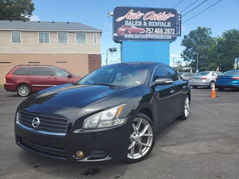 2011 Nissan Maxima for sale at Auto Outlet Sales and Rentals in Norfolk VA