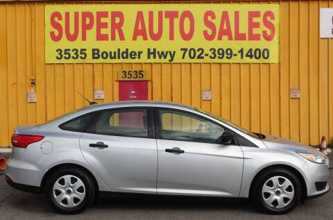 2017 Ford Focus for sale at Super Auto Sales in Las Vegas NV