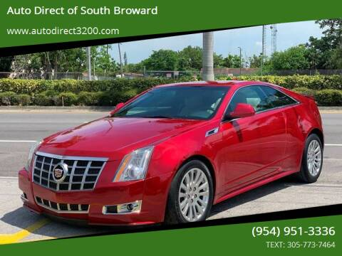 2012 Cadillac CTS for sale at Auto Direct of South Broward in Miramar FL