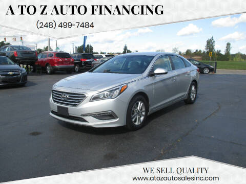 2015 Hyundai Sonata for sale at A to Z Auto Financing in Waterford MI