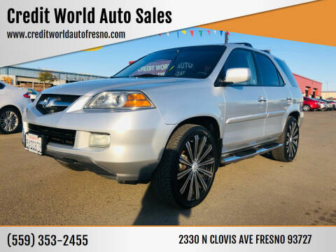 2005 Acura MDX for sale at Credit World Auto Sales in Fresno CA