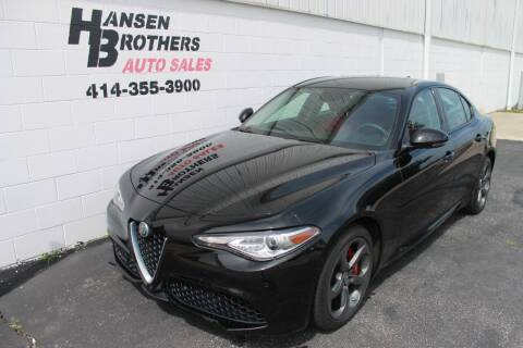 2018 Alfa Romeo Giulia for sale at HANSEN BROTHERS AUTO SALES in Milwaukee WI