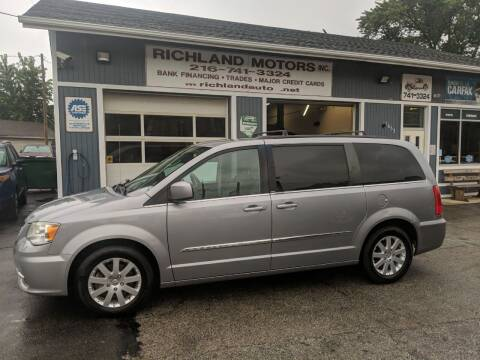 2014 Chrysler Town and Country for sale at Richland Motors in Cleveland OH