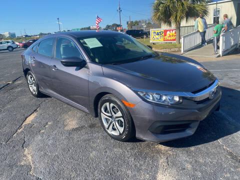 2018 Honda Civic for sale at Sun Coast City Auto Sales in Mobile AL
