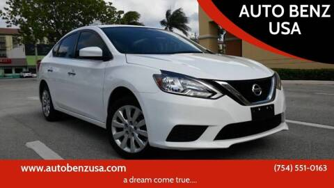2016 Nissan Sentra for sale at AUTO BENZ USA in Fort Lauderdale FL