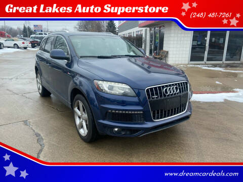 2011 Audi Q7 for sale at Great Lakes Auto Superstore in Pontiac MI