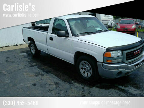 2007 GMC Sierra 1500 for sale at Carlisle's in Canton OH