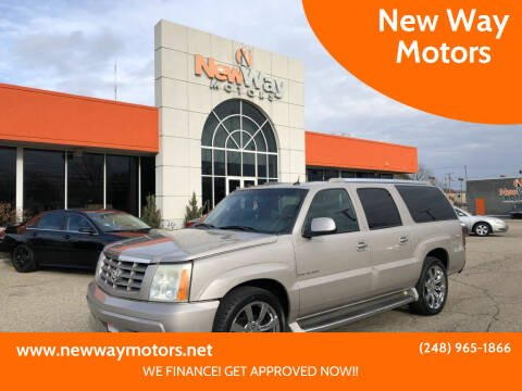2004 Cadillac Escalade ESV for sale at New Way Motors in Ferndale MI