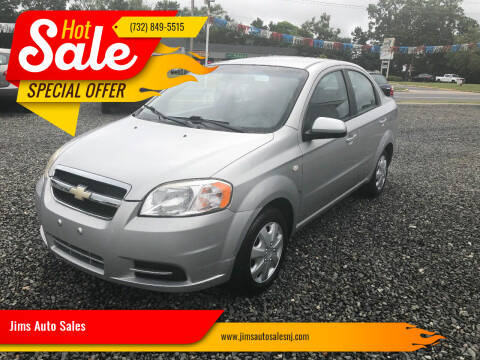 2008 Chevrolet Aveo for sale at Jims Auto Sales in Lakehurst NJ