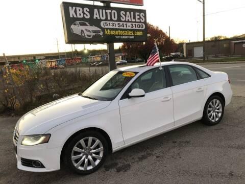 2010 Audi A4 for sale at KBS Auto Sales in Cincinnati OH