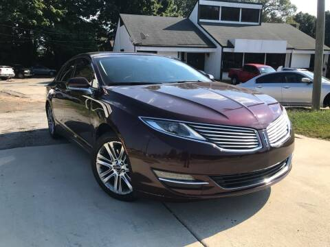 2013 Lincoln MKZ for sale at Alpha Car Land LLC in Snellville GA