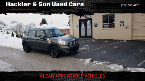 2012 MINI Cooper Countryman for sale at Hackler & Son Used Cars in Red Lion PA