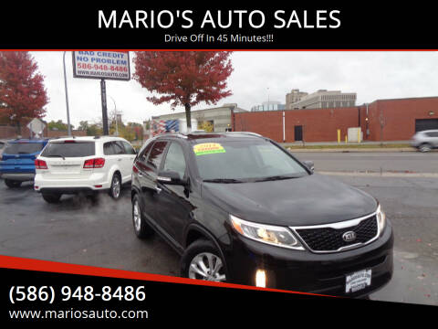 2014 Kia Sorento for sale at MARIO'S AUTO SALES in Mount Clemens MI