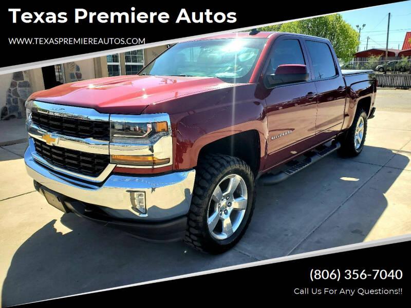 2016 Chevrolet Silverado 1500 for sale at Texas Premiere Autos in Amarillo TX