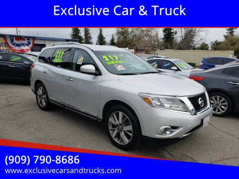 2013 Nissan Pathfinder for sale at Exclusive Car & Truck in Yucaipa CA