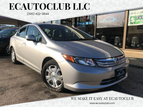 2012 Honda Civic for sale at ECAUTOCLUB LLC in Kent OH