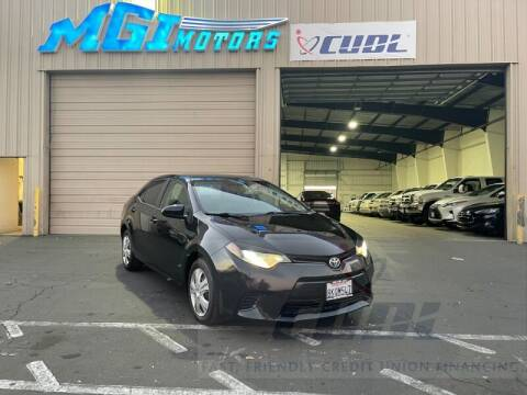 2015 Toyota Corolla for sale at MGI Motors in Sacramento CA