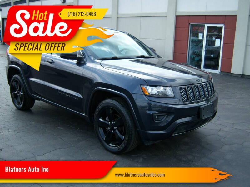 2014 Jeep Grand Cherokee for sale at Blatners Auto Inc in North Tonawanda NY