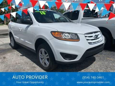 2010 Hyundai Santa Fe for sale at AUTO PROVIDER in Fort Lauderdale FL