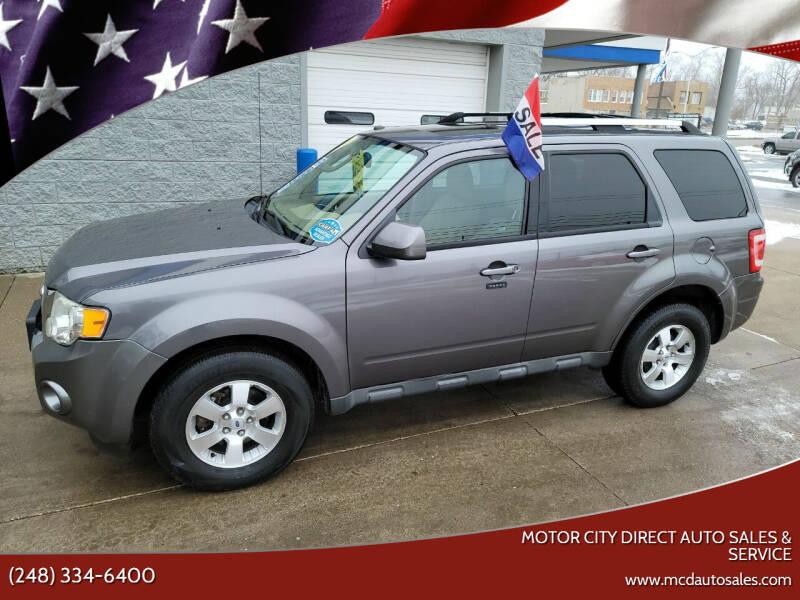 2010 Ford Escape for sale at Motor City Direct Auto Sales & Service in Pontiac MI