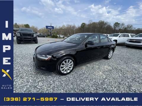 2014 Audi A4 for sale at Impex Auto Sales in Greensboro NC