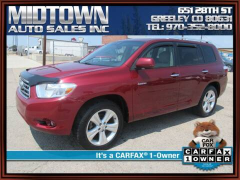 2010 Toyota Highlander for sale at MIDTOWN AUTO SALES INC in Greeley CO