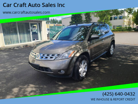 2004 Nissan Murano for sale at Car Craft Auto Sales Inc in Lynnwood WA