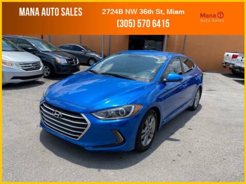 2017 Hyundai Elantra for sale at MANA AUTO SALES in Miami FL