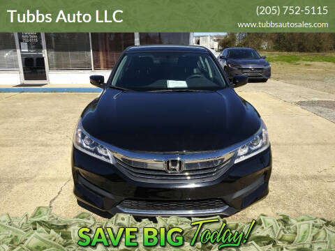 2017 Honda Accord for sale at Tubbs Auto LLC in Tuscaloosa AL