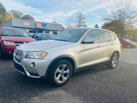 2011 BMW X3 for sale at Carpro Auto Sales in Chesapeake VA