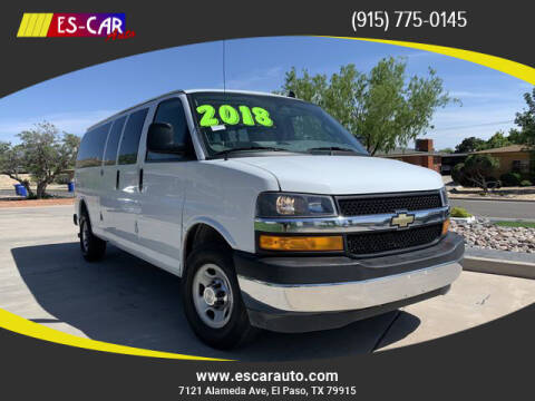 2018 Chevrolet Express Passenger for sale at Escar Auto - 9809 Montana Ave Lot in El Paso TX