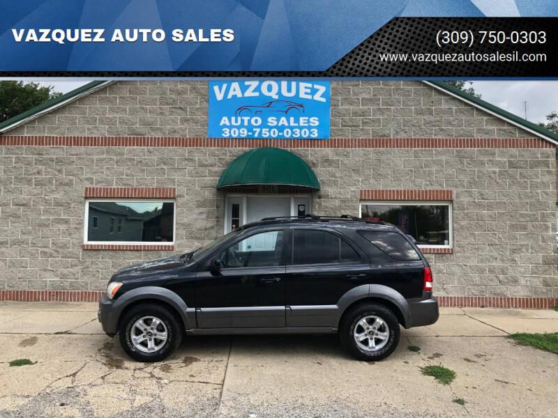 2004 Kia Sorento for sale at VAZQUEZ AUTO SALES in Bloomington IL