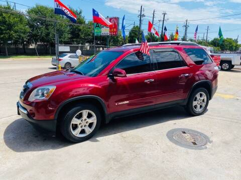 2008 GMC Acadia for sale at ASHE AUTO SALES, LLC. in Dallas TX