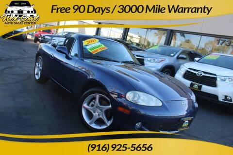 2003 Mazda MX-5 Miata for sale at West Coast Auto Sales Center in Sacramento CA