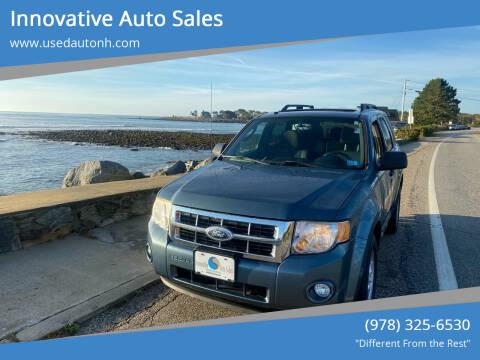 2010 Ford Escape for sale at Innovative Auto Sales in North Hampton NH