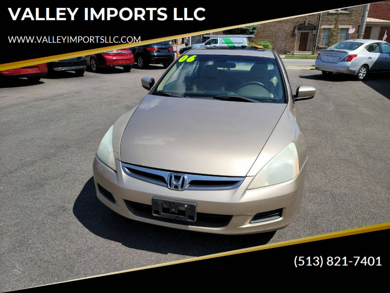 2006 Honda Accord for sale at VALLEY IMPORTS LLC in Cincinnati OH
