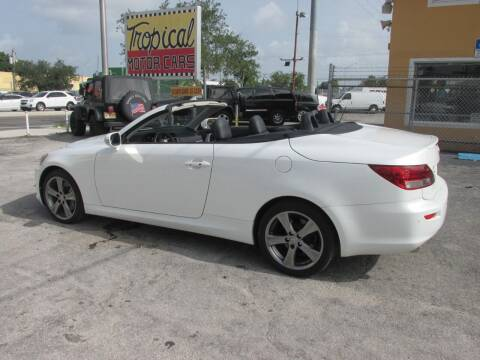 2012 Lexus IS 350C for sale at TROPICAL MOTOR CARS INC in Miami FL