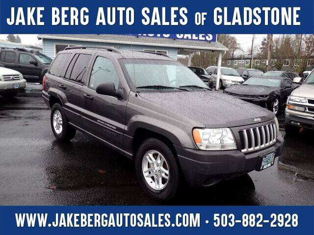2004 Jeep Grand Cherokee for sale at Jake Berg Auto Sales in Gladstone OR