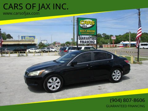 2010 Honda Accord for sale at CARS OF JAX INC. in Jacksonville FL