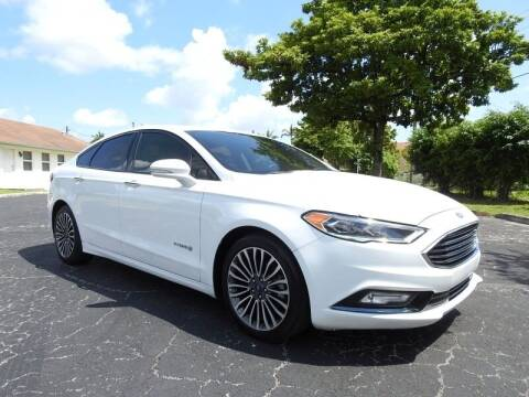 2017 Ford Fusion Hybrid for sale at SUPER DEAL MOTORS 441 in Hollywood FL