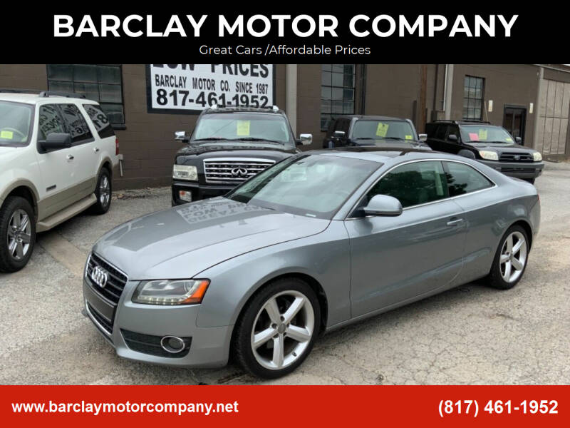 2009 Audi A5 for sale at BARCLAY MOTOR COMPANY in Arlington TX