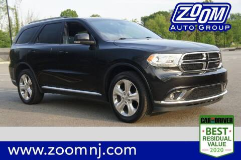 2015 Dodge Durango for sale at Zoom Auto Group in Parsippany NJ