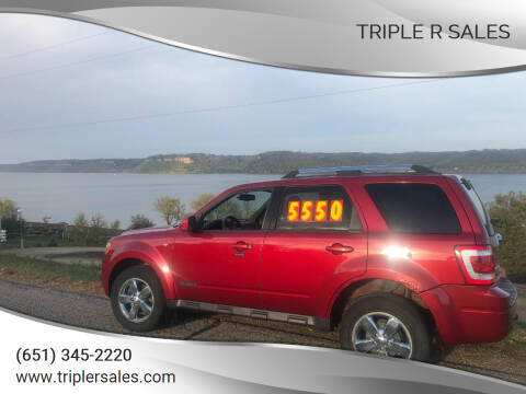 2008 Ford Escape for sale at Triple R Sales in Lake City MN