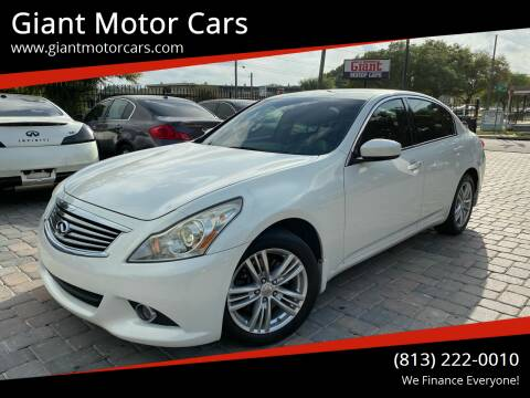 2012 Infiniti G25 Sedan for sale at Giant Motor Cars in Tampa FL
