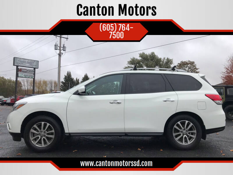 2015 Nissan Pathfinder for sale at Canton Motors in Canton SD