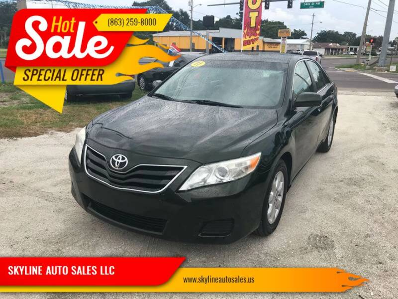 2011 Toyota Camry for sale at SKYLINE AUTO SALES LLC in Winter Haven FL