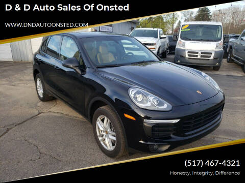 2016 Porsche Cayenne for sale at D & D Auto Sales Of Onsted in Onsted   Brooklyn MI