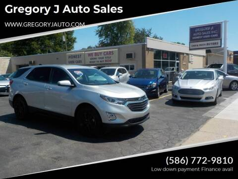 2018 Chevrolet Equinox for sale at Gregory J Auto Sales in Roseville MI