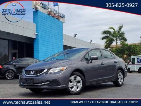 2015 Honda Civic for sale at Tech Auto Sales in Hialeah FL