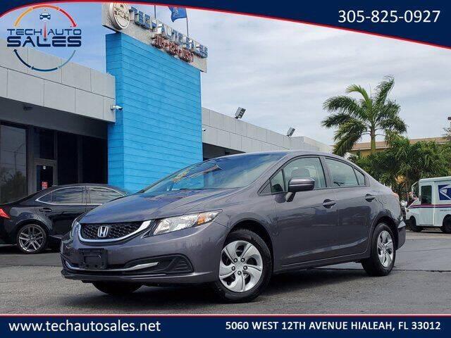 2015 Honda Civic for sale at Tech Auto Sales in Hialeah FL